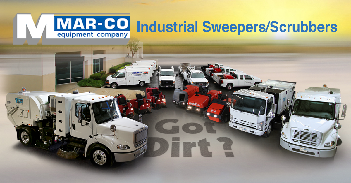 Mar-co Equipment Industrial / Municipal Sweepers and Scrubbers