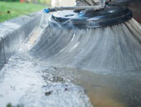 storm water runoff - street sweeper